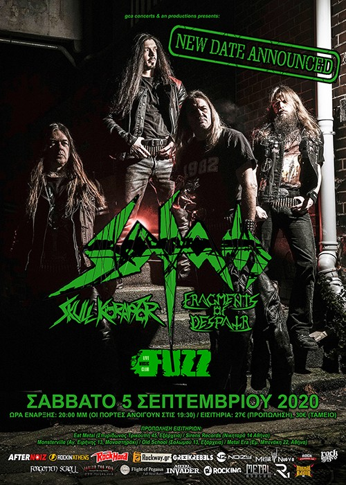 27/3/21 - Sodom, Skull Koraptor, Fragments Of Despair @Fuzz Club